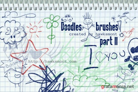 Doodles Brushes for Photoshop