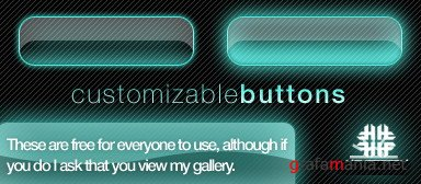 PSD Customizable Glow Buttons