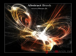 ������������ ����� ��� ��������.  Abstract Brush  .