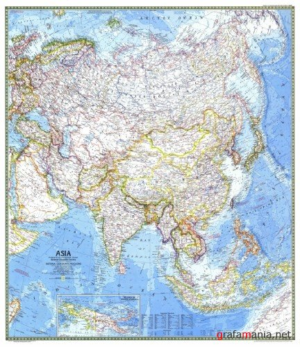 National Geographic Asia Map