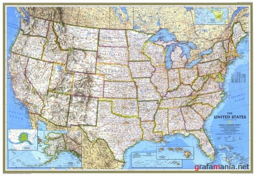 National Geographic United States Map