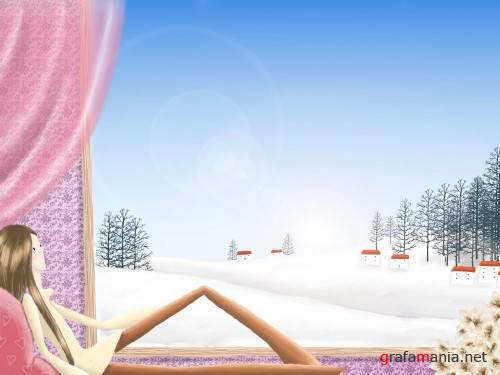 Winter vector pictures