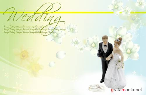 Big wedding backgrounds psd 1
