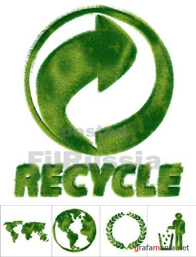 Green Grass Recycle Signs & Symbols