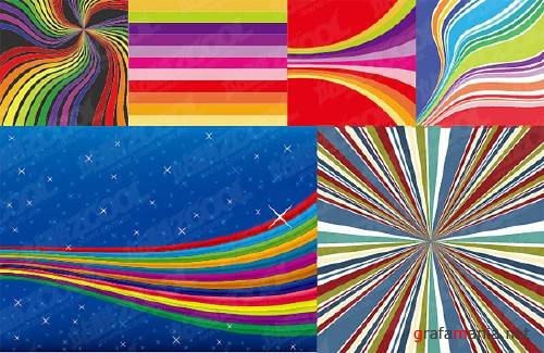 Vector Color Radiation Backgrounds