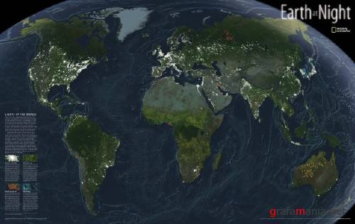 National Geographic - Earth At Night Map