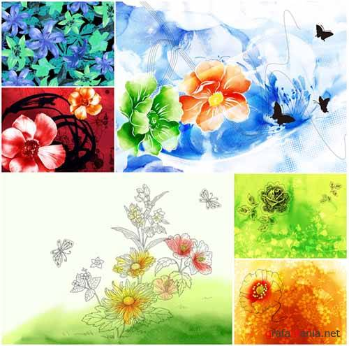 Amazing Flowers Paintings Wallpapers