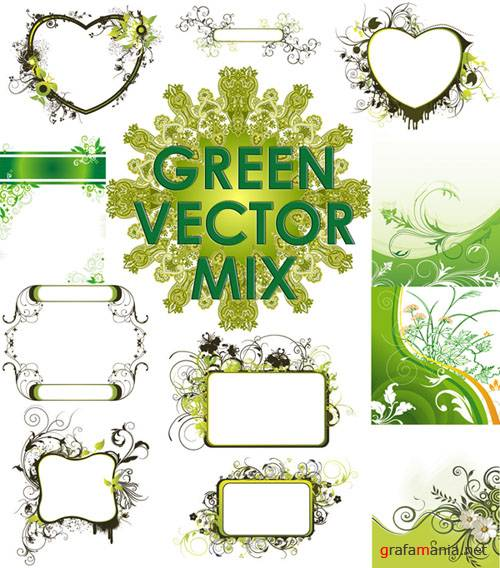 Green vector mix