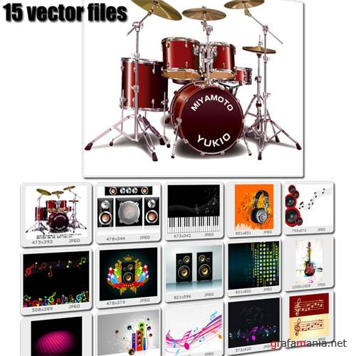 Music 15 Vectors Illustration
