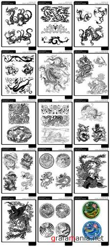 Dragon Detail Illustrations