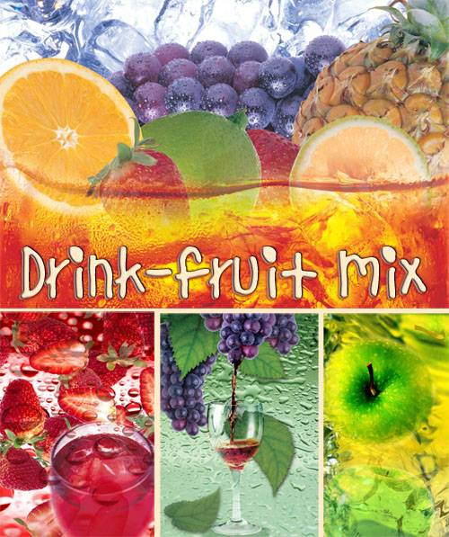 Drink-fruit mix