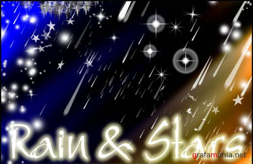 Rain and Stars brushes