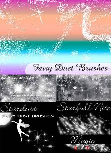 Fairy dust brushes