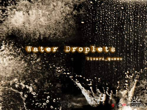 Water Dropplets - Кисти для Photoshop