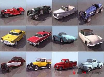 Retro Cars 3D Models