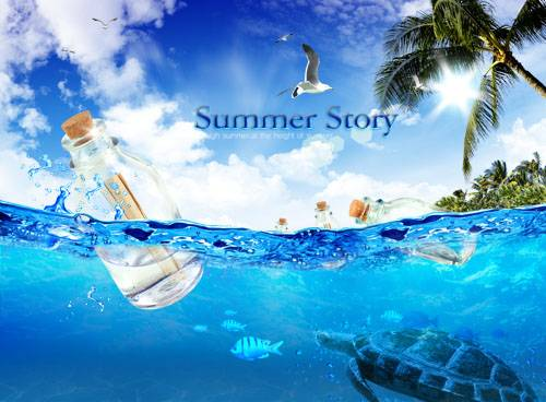 PSD templates - Summer