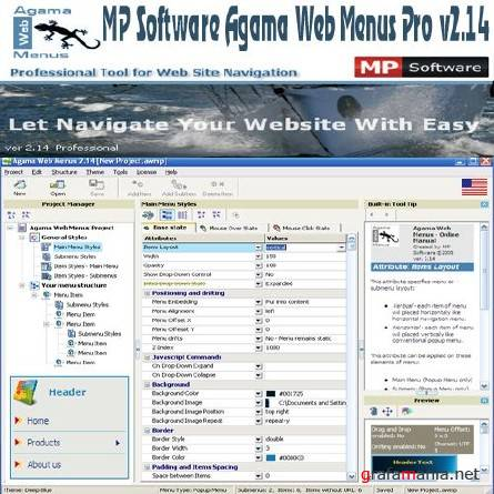 MP Software Agama Web Menus Pro v2.14