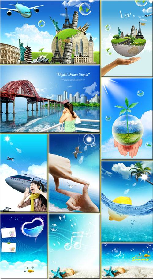 PSD templates - Summer and Travel