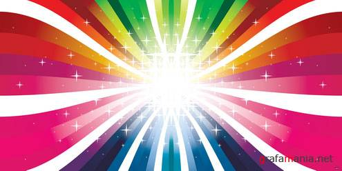 Colorful Rays Vector