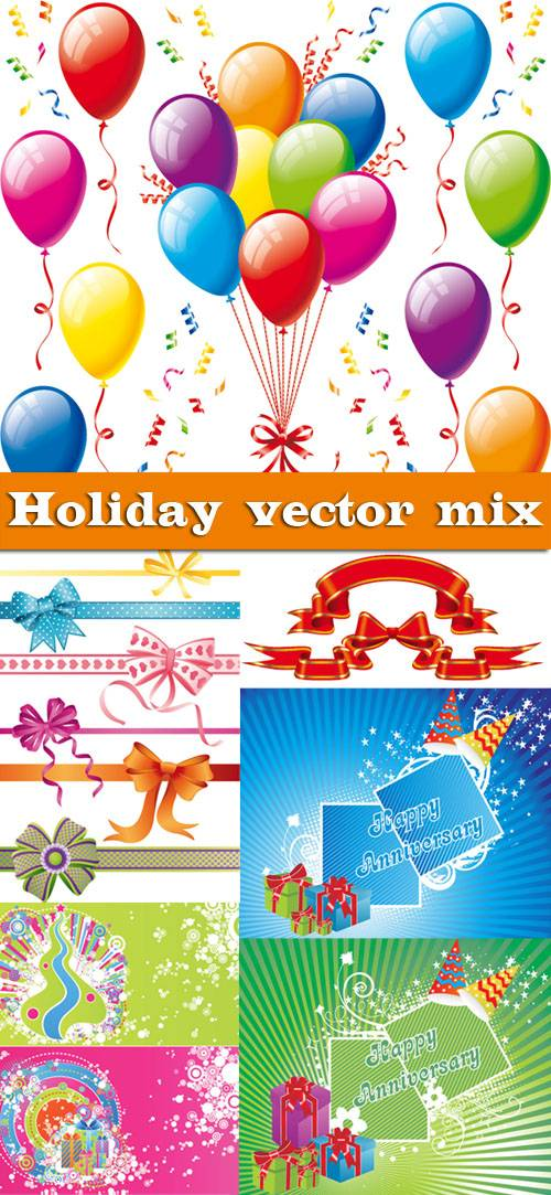 Holiday vector mix