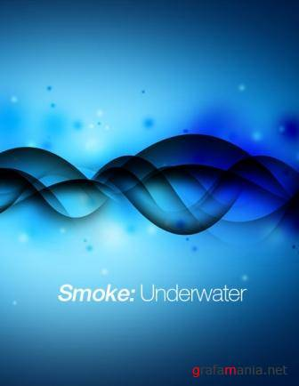 Smoke Underwater Free Abstract Wallpaper