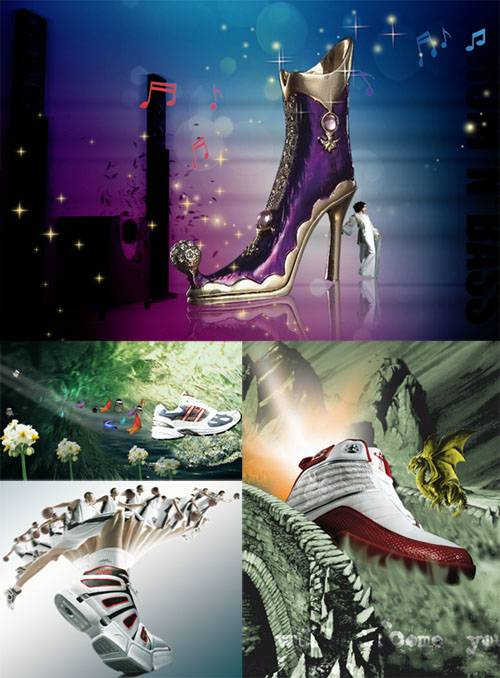 PSD templates -Shoes