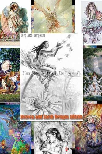 1000 схем вышивки крестиком от Heaven and Earth Designs (HAED)