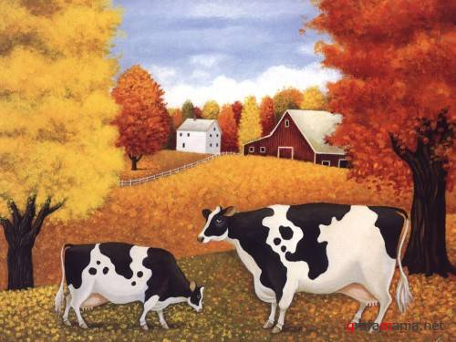 Cats & Cows by Lowell Herrero
