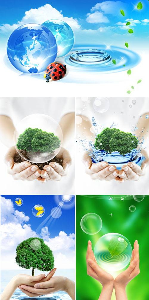 PSD templates - Hands and nature