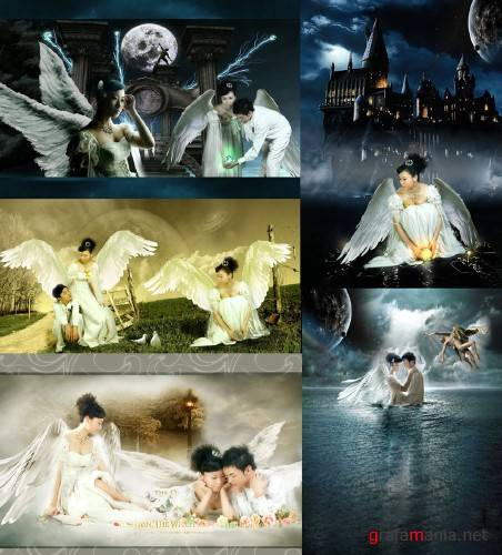 Angels  Psd templates