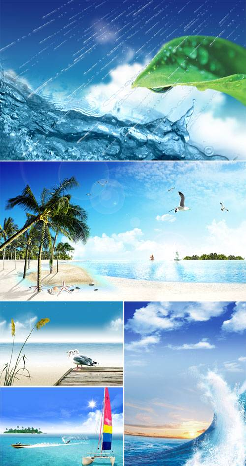 PSD templates - Sea and water