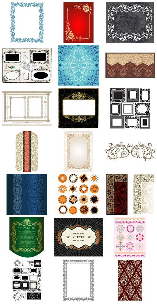 Art Deco frames and elements