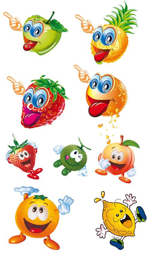 PSD templates - Funny fruits