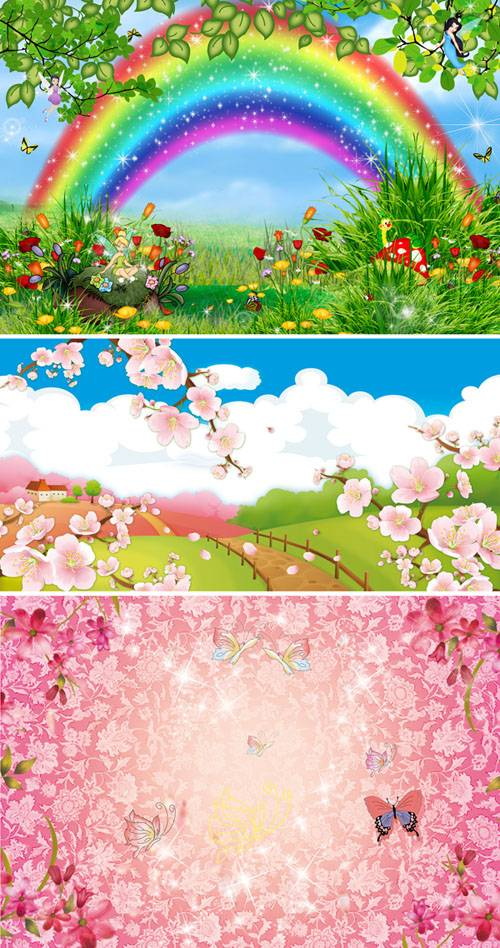 PSD templates - Bright flower images