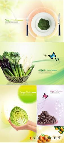 fruit and vegetable PSd template(3)