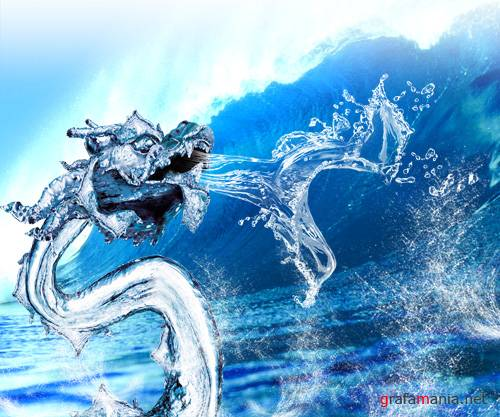 PSD �������� - Water Dragon