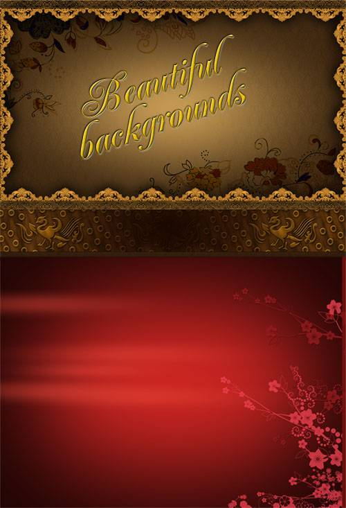 PSD templates - Beautiful backgrounds