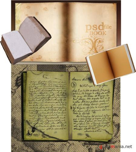 Psd template - Old Book