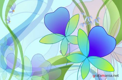 Psd template Flowers  from JuiceDrop 2929
