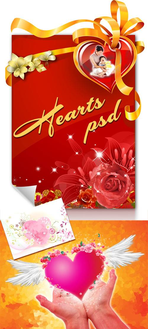 PSD templates - Heart