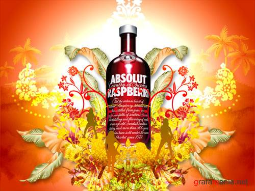 Absolut Vodka PSD template