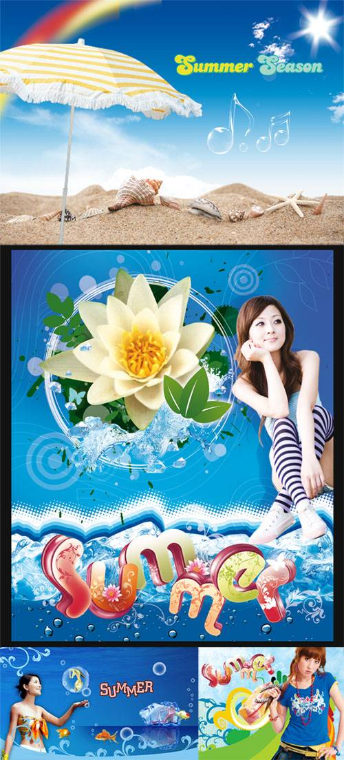 PSD templates - Summer season