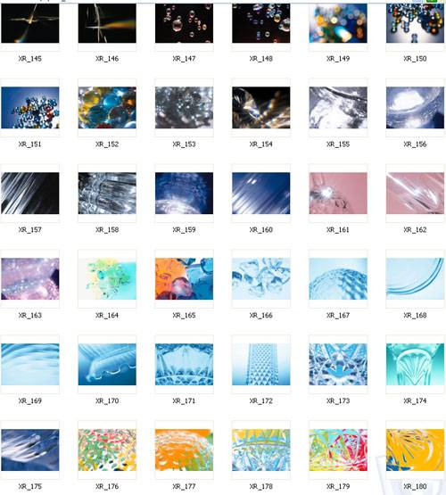 Crystal reflection backgrounds