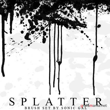 Splatter Photoshop Brushes by Sonic-Gal007
