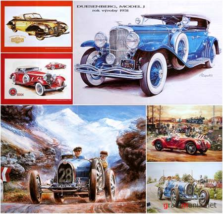 Old Cars in Fine Art Wallpapers