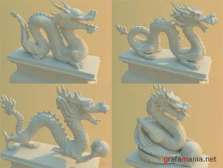 Chinese Dragons - 3D Models