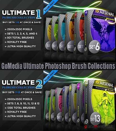 GoMedia Ultimate Photoshop Brushes Collections