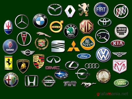 PSD - World Famous Car Logos