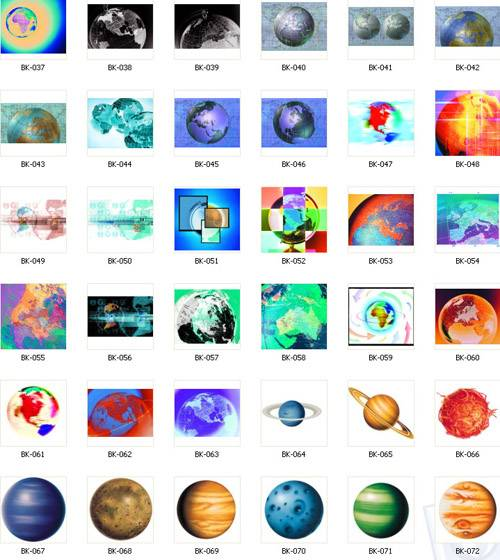 Globes and planets