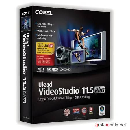 Ulead VideoStudio 11.5 Plus [ENG]+[RUS] ISO / (2xCD ����������� ������) + Update